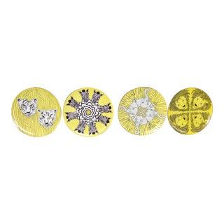 Franci Villa Palm Beach Decorative Plates - Set of 4 For Sale