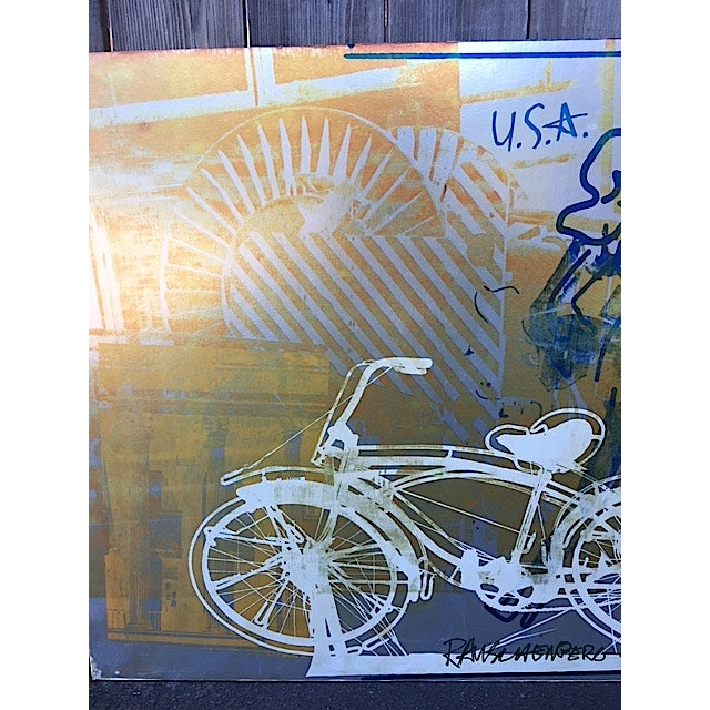 Bicycle, Mounted Rauschenberg Exhibition Poster - Image 5 of 7