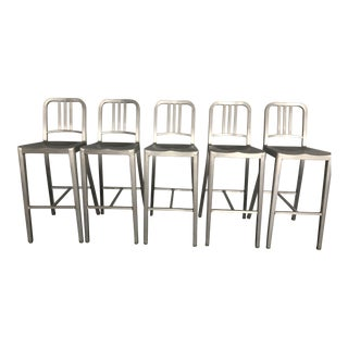 Modern Genuine Emeco 1006 Navy Barstools- 10 Available Sold Separately For Sale