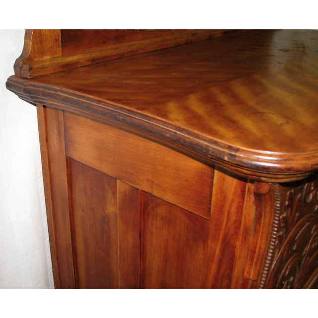Brown Carved Flamed Finish Maple Dresser For Sale - Image 8 of 10