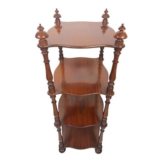 Victorian English Mahogany 4 Tier Display Shelves For Sale