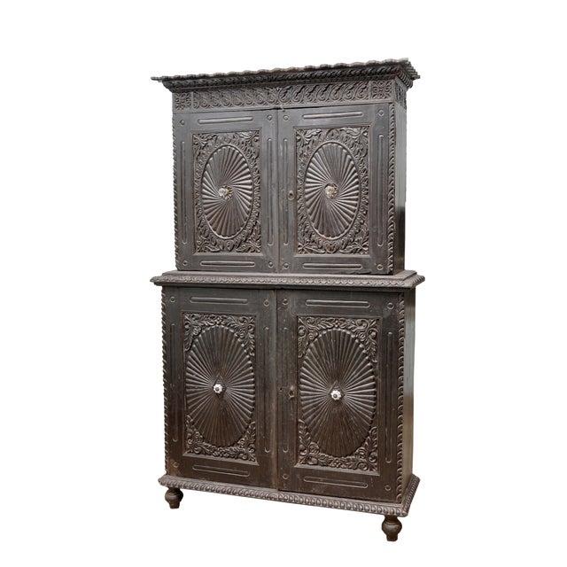 19th Century Sunburst Carved Cabinet - Image 2 of 2