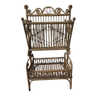 19th Century Victorian Rattan Magazine Stand For Sale