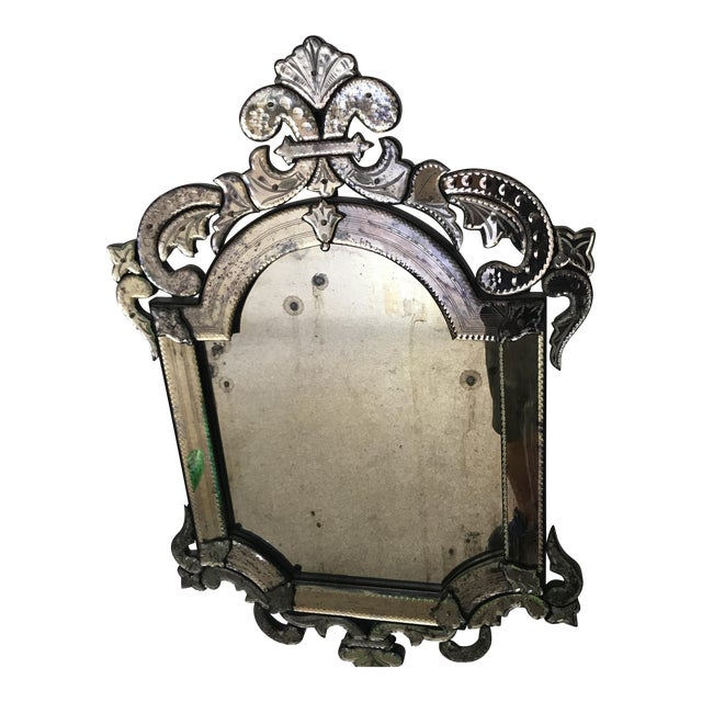 Murano Style Cut Glass Mirror - Image 1 of 8