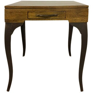 Melange Accent Side Table With Storage Drawer For Sale