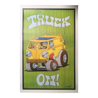1970s Vintage Truck On! Poster For Sale