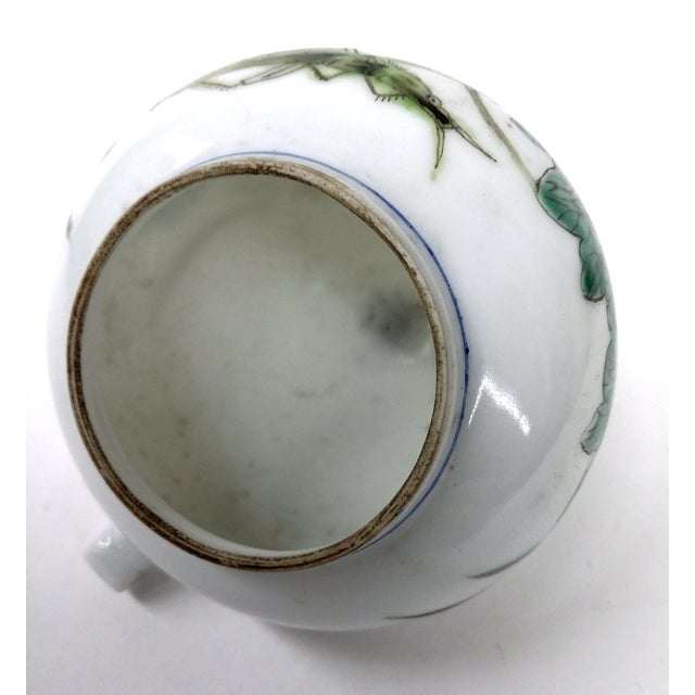 Green Antique Chinese Porcelain Bird Feeder For Sale - Image 8 of 8