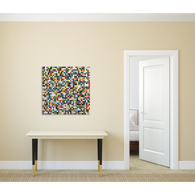"Green ""1296 Squares"" Original Artwork by Brandon Neher For Sale - Image 8 of 9"