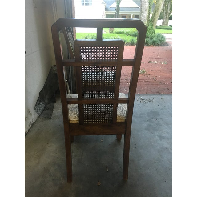 Vintage Fretwork Dining Chairs - Set of 4 - Image 4 of 4