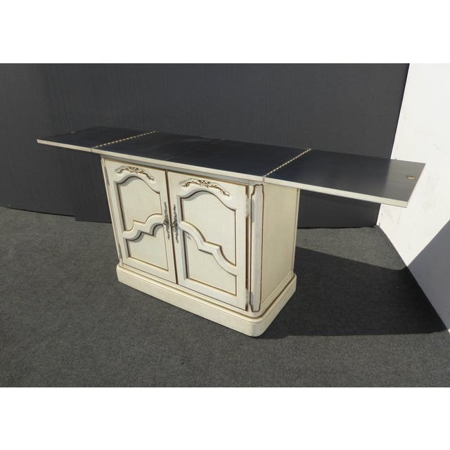 Thomasville French Country White & Gold Server For Sale - Image 7 of 11