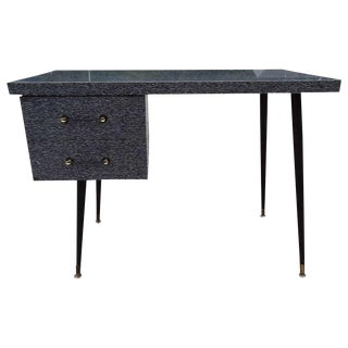 Mid-Century Paul McCobb Style Cerused Style Laminate Desk For Sale