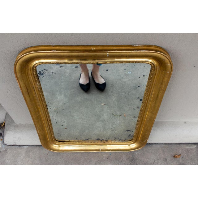 Antique French Gilt Louis Philippe Mirror, Late 19th Century For Sale - Image 9 of 13