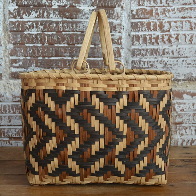 Carol Welch Cherokee White Oak Purse Basket - Image 3 of 10