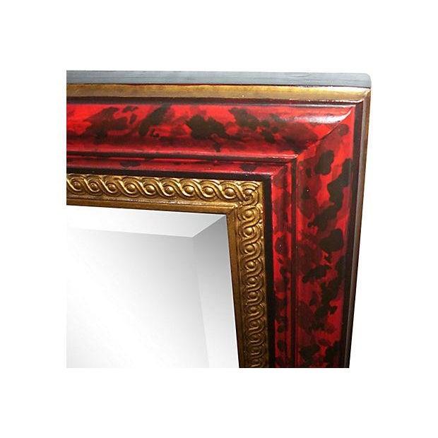 Grand Regency Style Faux Tortoise Mirror - Image 3 of 6