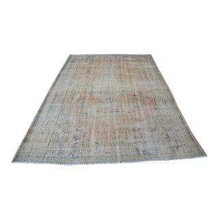 "Anatolian Oushak Antique Handwoven Carpet - 6'6"" x 8'9"""