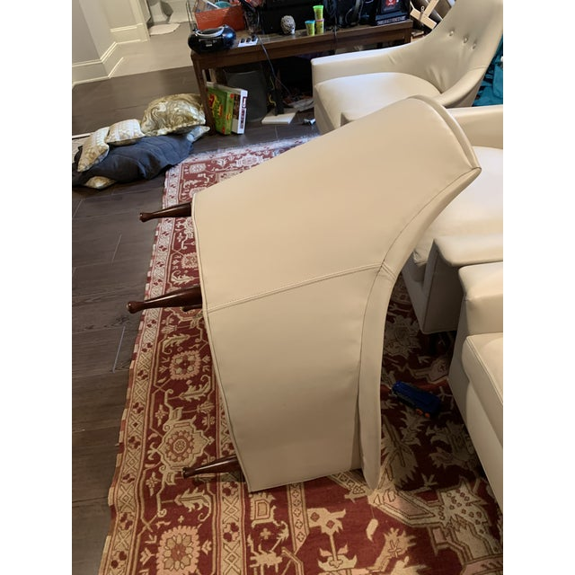 White Modern Brigitte Chairs For Sale - Image 8 of 13