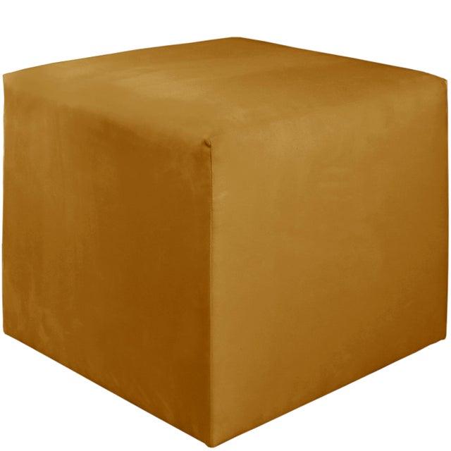 Contemporary Monaco Citronella Cube Ottoman For Sale - Image 3 of 5