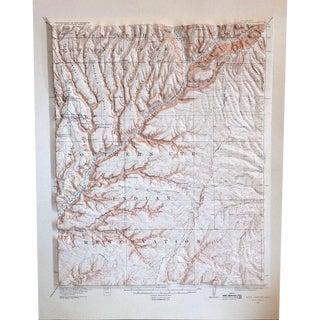 Vintage Relief Map of Soda Canyon Colorado