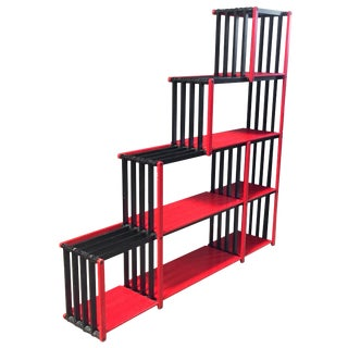 Flexible Wood Bookcase, Italy, 1980s For Sale