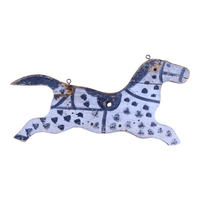 20th Century Folk Art Hanging Horse For Sale
