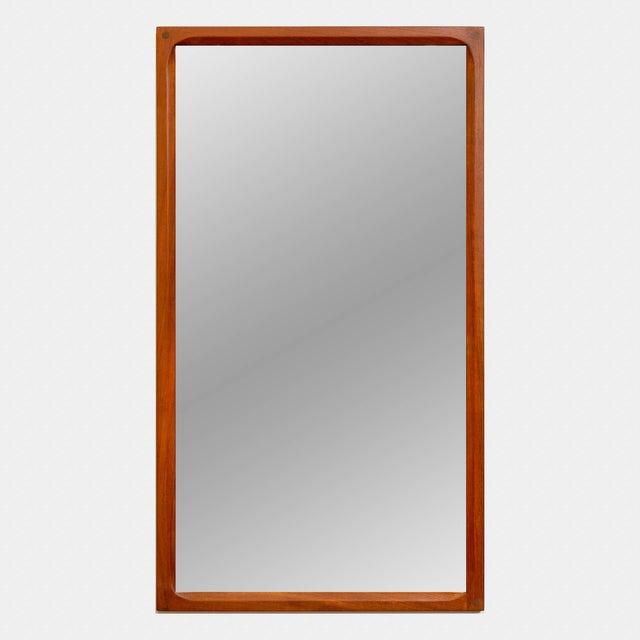 Aksel Kjersgaard Danish Modern Teak Mirror by Aksel Kjersgaard With Intricate Joinery For Sale - Image 4 of 4