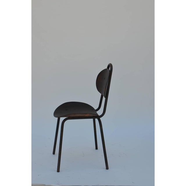 1950s Pair of Unique French Industrial Bentwood Side Chairs For Sale - Image 5 of 10