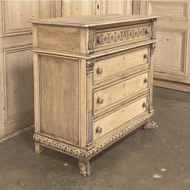 Renaissance Antique Italian Renaissance Stripped Walnut Commode For Sale - Image 3 of 13