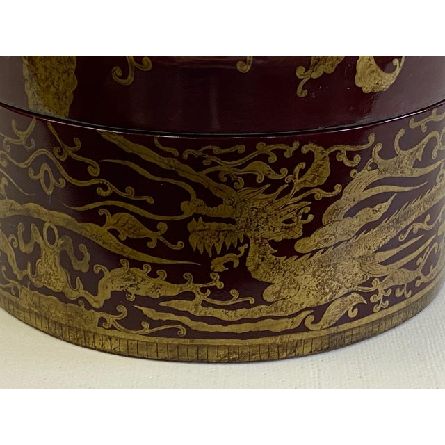 Maitland Smith Red Lacquer & Giltwood Box For Sale In Philadelphia - Image 6 of 10