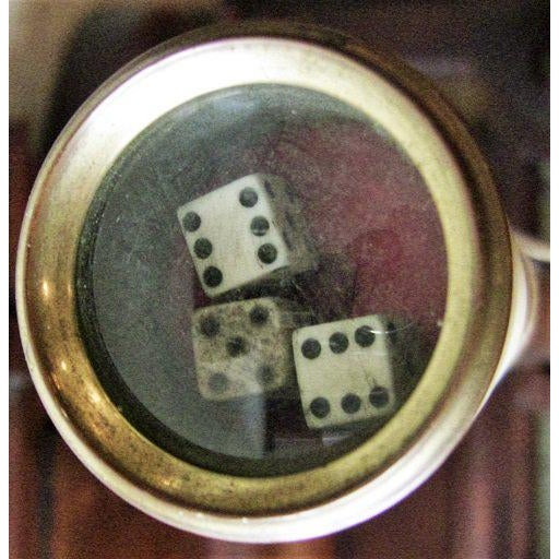 Bone 19c Gamblers Walking Cane With Dice in the Handle For Sale - Image 7 of 9