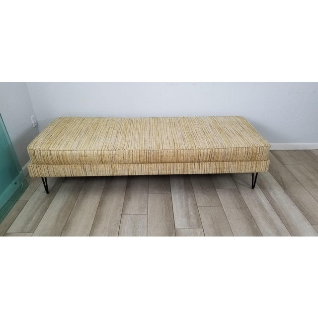 Textile George Nelson for Herman Miller Convertible Daybed Sofa With Hairpin Legs . For Sale - Image 7 of 13