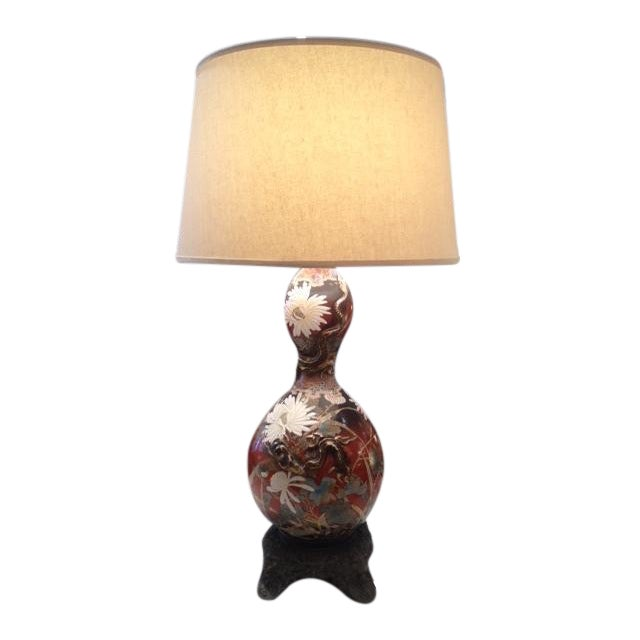 Vintage Asian Hand Painted Ceramic Gord Lamp - Image 1 of 11