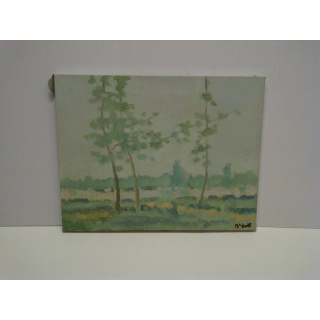 "20th Century Contemporary Original Framed Painting on Canvas, ""Trees"" by Frederick McDuff For Sale In Pittsburgh - Image 6 of 6"
