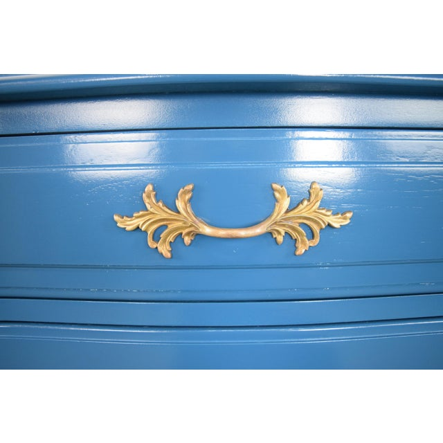 Lacquer 19th Century French Provincial Thomasville Blue Sideboard For Sale - Image 7 of 13