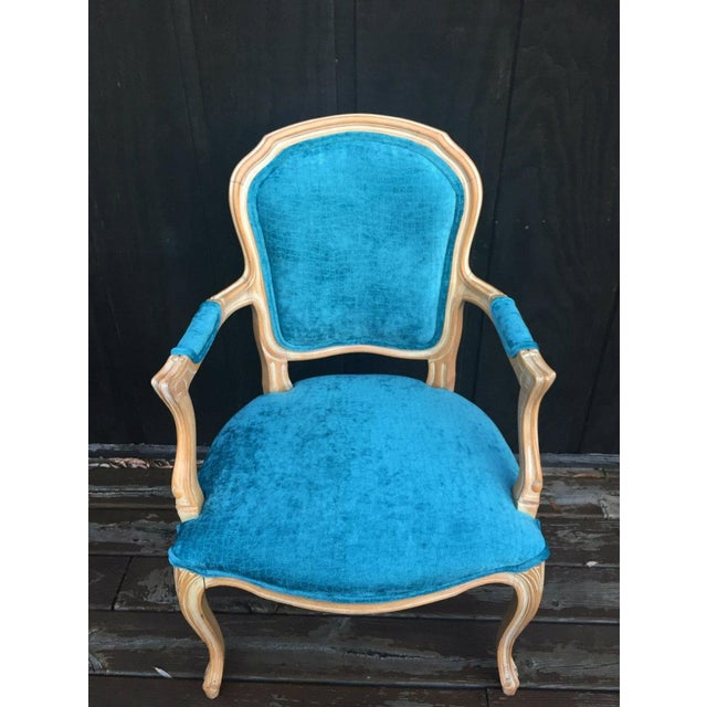 Textile French Bergere Chairs - a Pair For Sale - Image 7 of 11