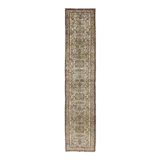 1950s Vintage Persian Lilihan Runner Rug - 2′9″ × 13′ For Sale