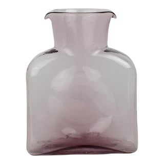 Blenko Glass Pink Blush Pitcher For Sale