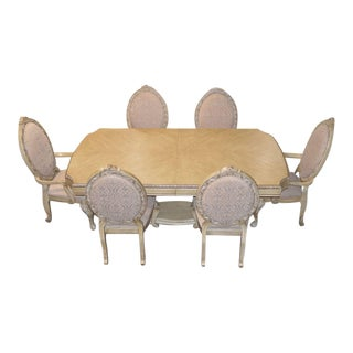 Aico Carved Tuscan Style Dining Table & Chairs