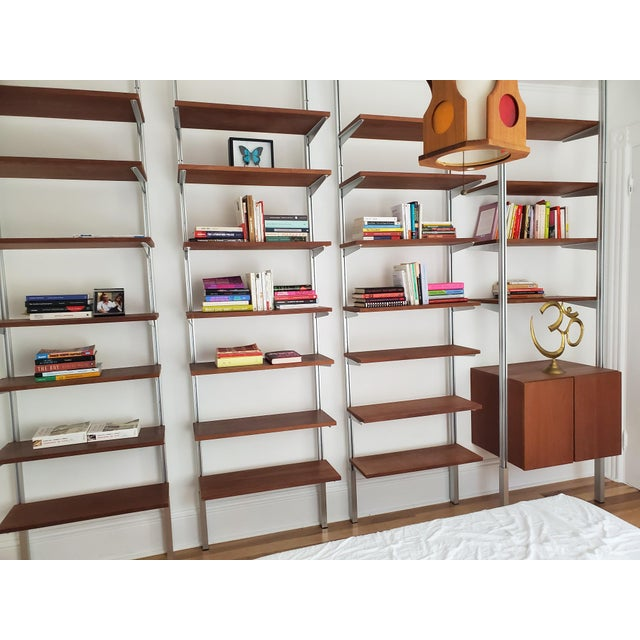 A Mid Century Modern Wall Unit Bookshelves System For Sale - Image 10 of 11