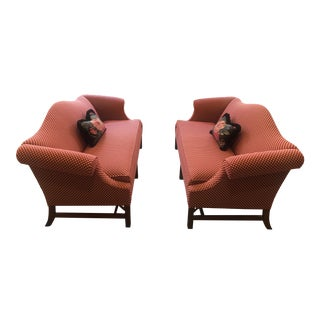 Late 20th Century Ethan Allen Chippendale Leg Sofas - a Pair For Sale