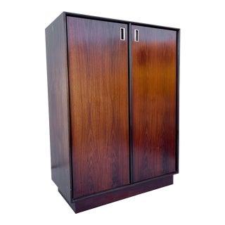 Scandinavian Modern Rosewood Armoire or Dresser For Sale