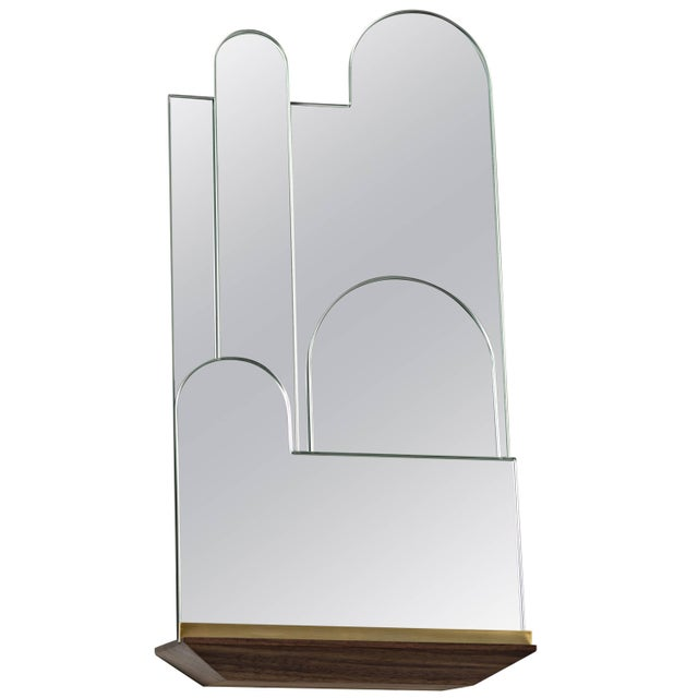 Modern Propped Daily - Use Mirror by Phaedo, Layered For Sale - Image 3 of 3