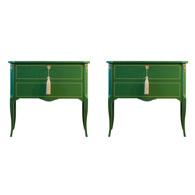 1940s Gustavian Louis XV Style Chests - a Pair For Sale In Washington DC - Image 6 of 6