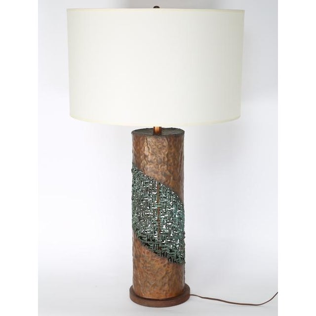 Brutalist MARCELLO FANTONI TORCH-CUT TABLE LAMP For Sale - Image 3 of 8