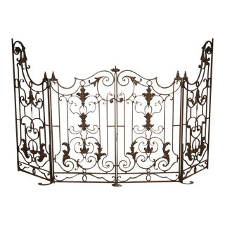 Circa 1800 French Wrought Iron 4 Section Gate - A Pair For Sale