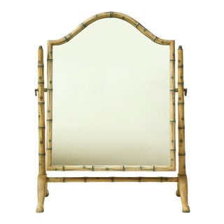 Colefax & Fowler Faux Bamboo Dressing Mirror For Sale