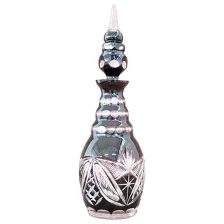 20th Century Art Deco Crystal Bottle, 1940s For Sale