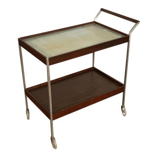 Mid-Century Modern Salton Hot Tray 2-Tier Buffet Cart For Sale
