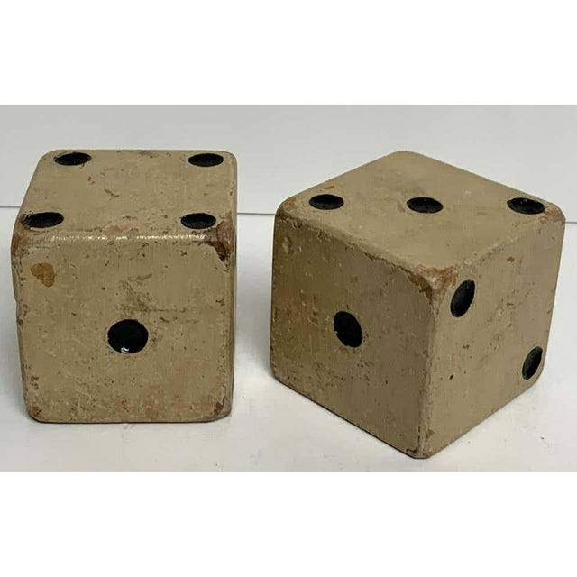 Mid 20th Century Scale Vintage Wooden Casino Dice - a Pair For Sale - Image 5 of 7