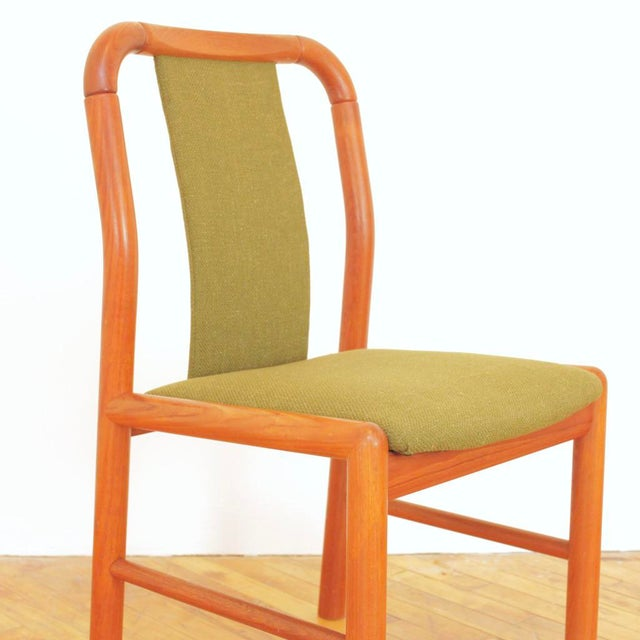 Olive 1960s Vintage Danish Teak Dining Chairs - Set of 6 For Sale - Image 8 of 11