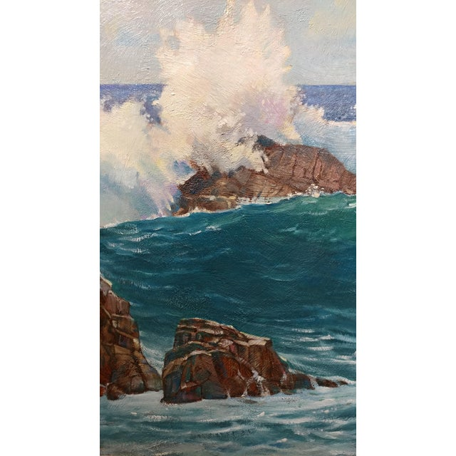 "Paint Paul Youngman ""Pacific Grove California Seascape"" Original Oil Painting For Sale - Image 7 of 10"